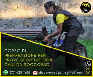 Corso preparazione prove sportive cani da soccorso